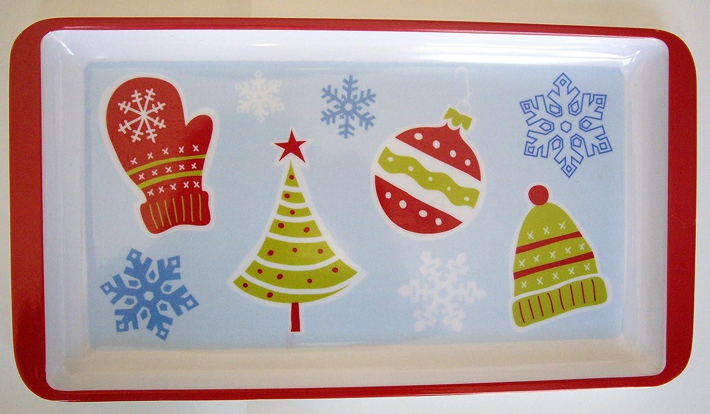 Bandejas Decorativas Platos Aperitivos Fiestas Navideñas con Imágenes de Navidad Christmas: Amazon.es: Hogar