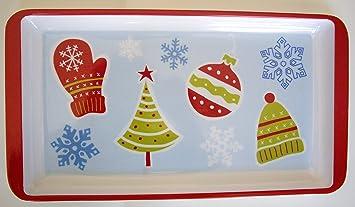 Bandejas Decorativas Platos Aperitivos Fiestas Navideñas con Imágenes de Navidad Christmas