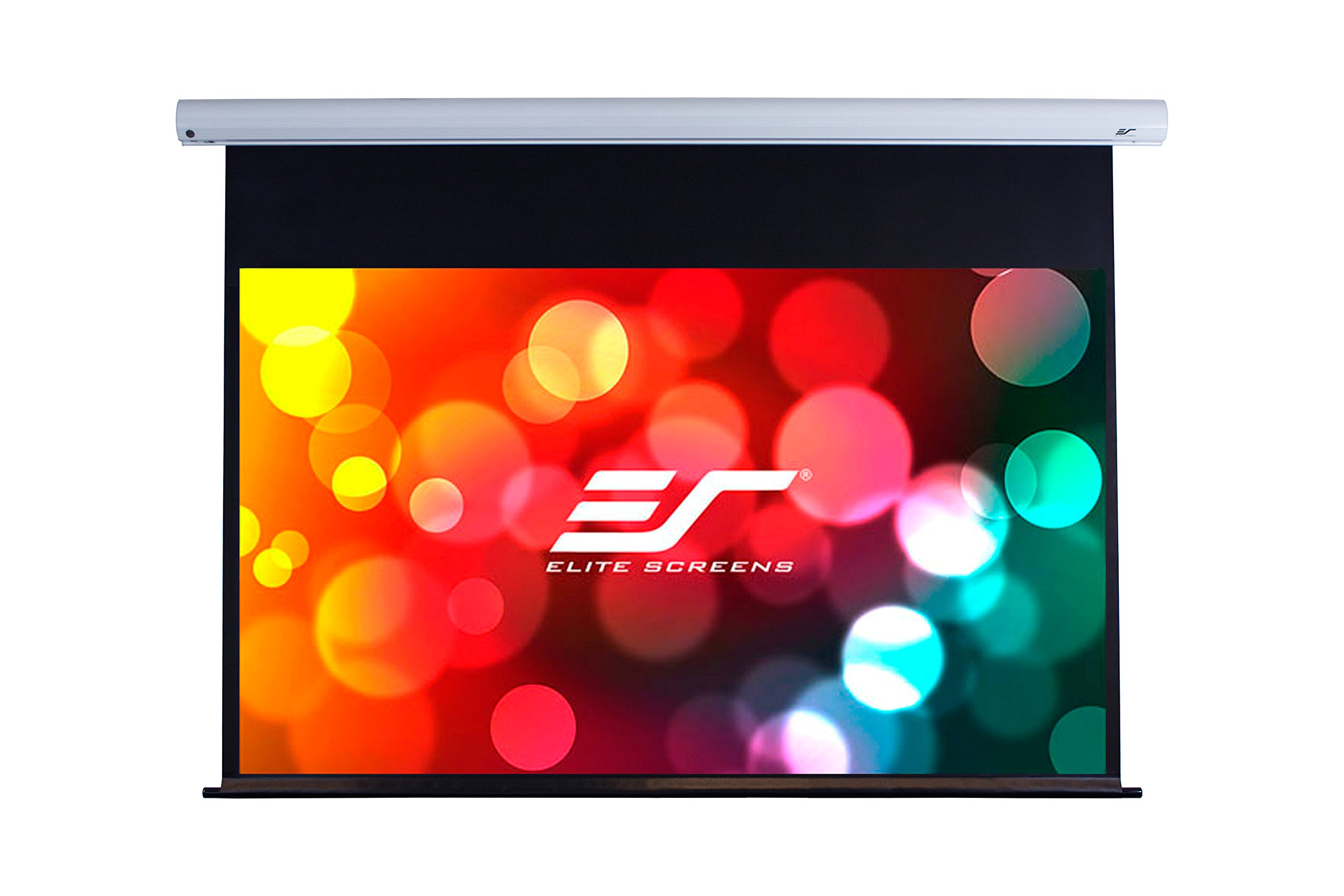 Elite Screens Saker, 100-inch 16:9 with 24'' Drop, Electric Motorized Drop Down Projection Projector Screen, SK100XHW-E24