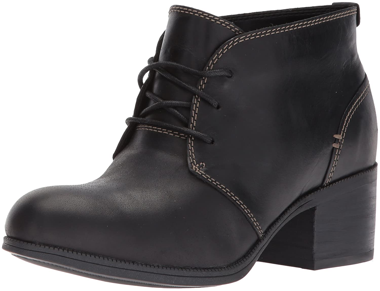 CLARKS Women's Maypearl Flora Ankle Bootie B01NALIMGV 9 B(M) US|Black