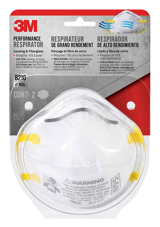 3m Sanding Non-valved Respirator Paint 2-pack