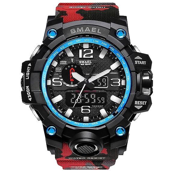 precio oficial descuento especial de el precio más baratas Relojes Hombre Reloj de Pulsera Hombre Reloj Deportivo Militar Reloj Smart  Moda Reloj de Pulsera Reloj Pulsera Digital LED