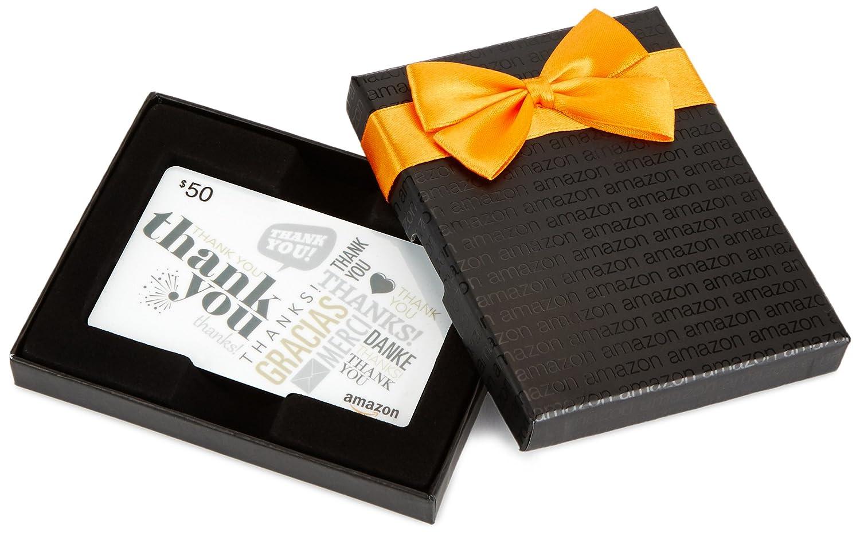 Amazon.com Gift Card in a Black Gift Kasten (Global Thank Sie Card Design)