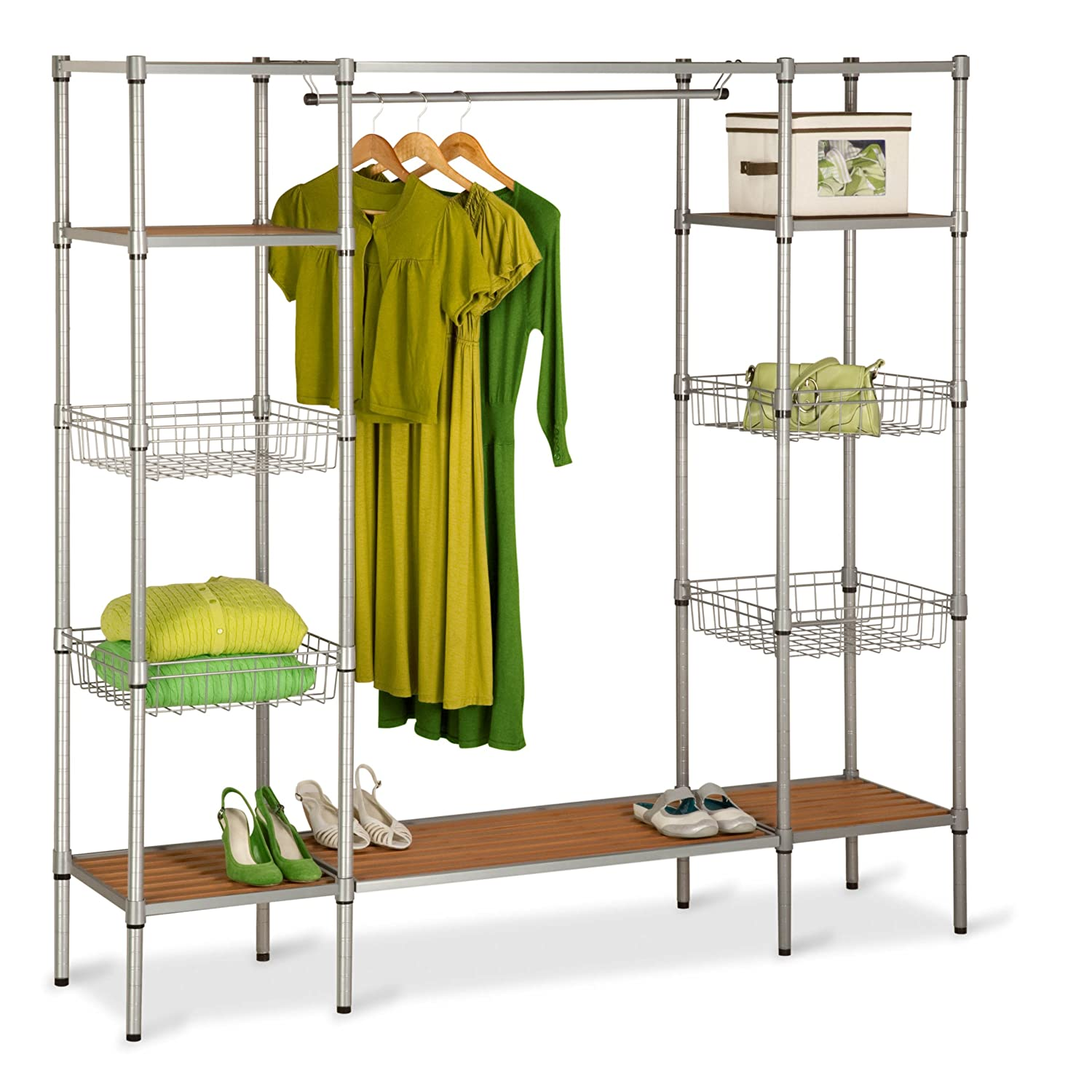 wood in portable the ideas you wall dividers systems shelving storage closet system size of organizer choosing walk full bedroom furniture own your design organizers for best