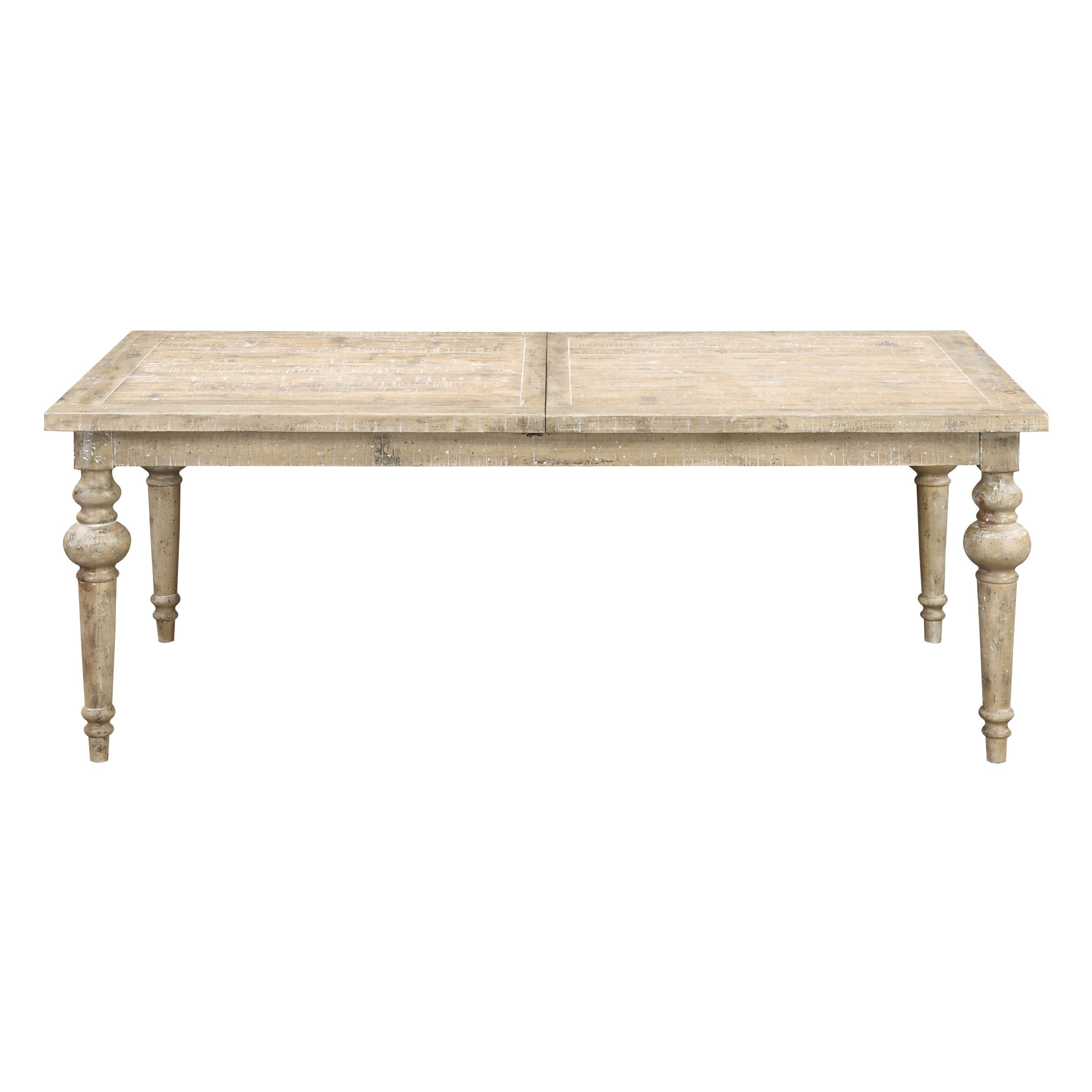 Emerald Home Interlude Sandstone Gray Dining Table with Self Storing Butterfly Extension Leaf And Turned Legs by Emerald Home Furnishings