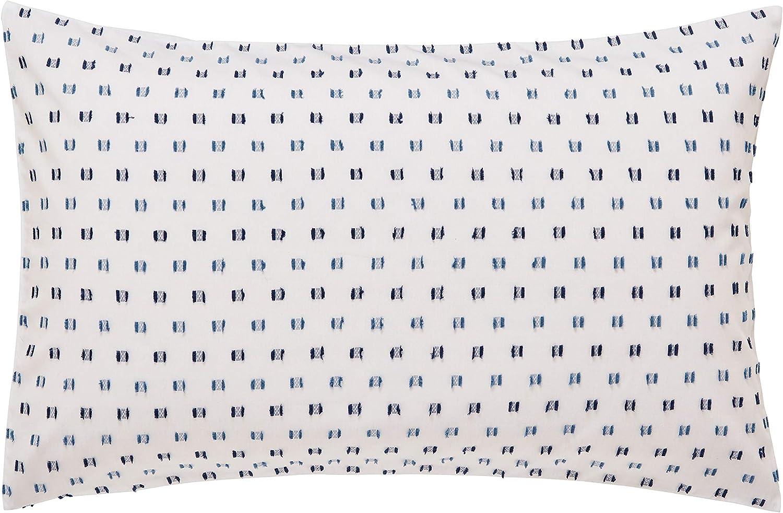 King Size,blue Helena Springfield Woven Dash 100/% Cotton Cover Set Indigo