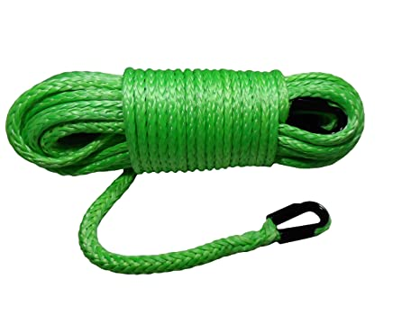 """Blue 1//2/""""*150ft Synthetic Winch Rope,Replacement Winch Cable ATV Winch Line with"""