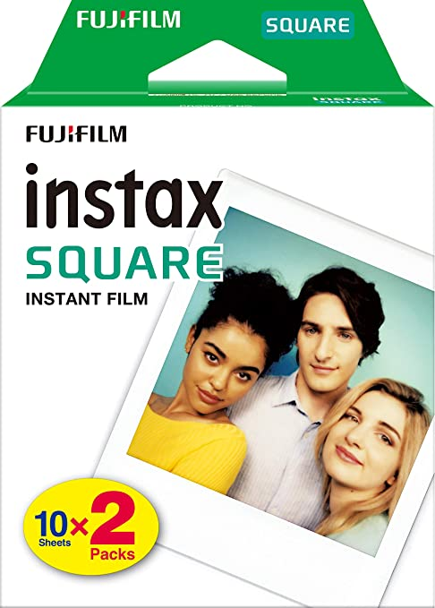 Oferta amazon: Fujifilm instax Square, película instantánea borde blanco, 2 x 10 fotos