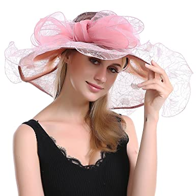dbaa30e47749 Women's Organza Floral Church Cap Kentucky Derby Fascinator Bridal Caps Sun  Travel British Tea Garden Party