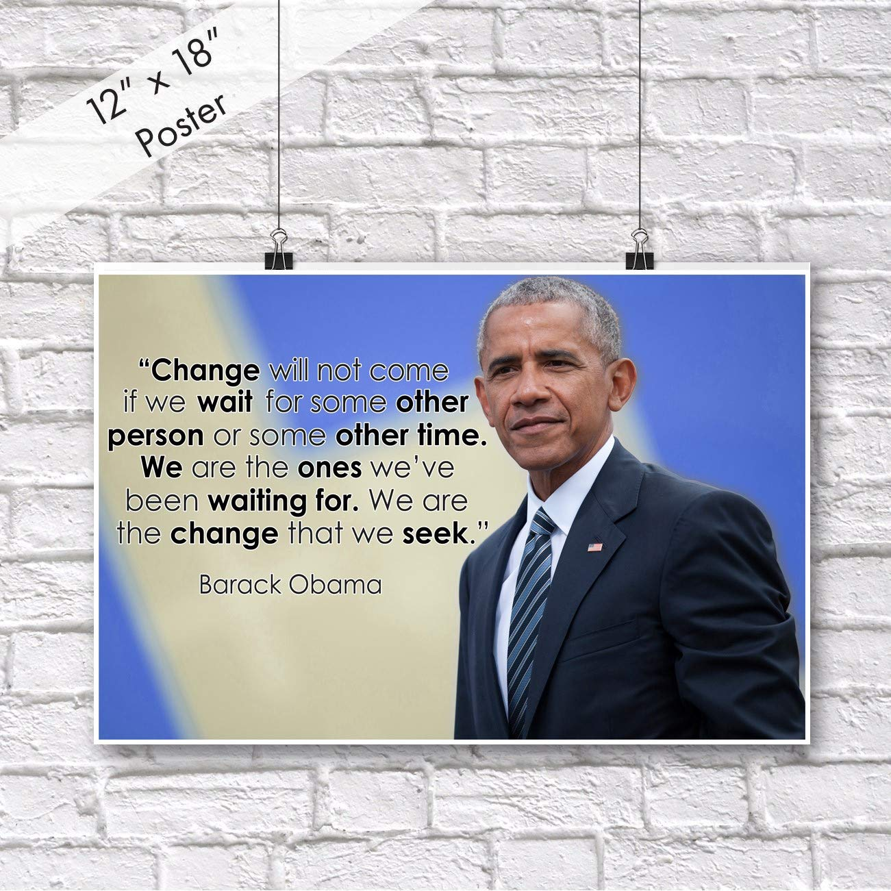 Barack Obama Quote Classroom Poster Black History Month Posters School Motivational Inspirational Wall Art Teacher Supplies Learning Teaching Positive Education Teachers Mindsets Decorations P021