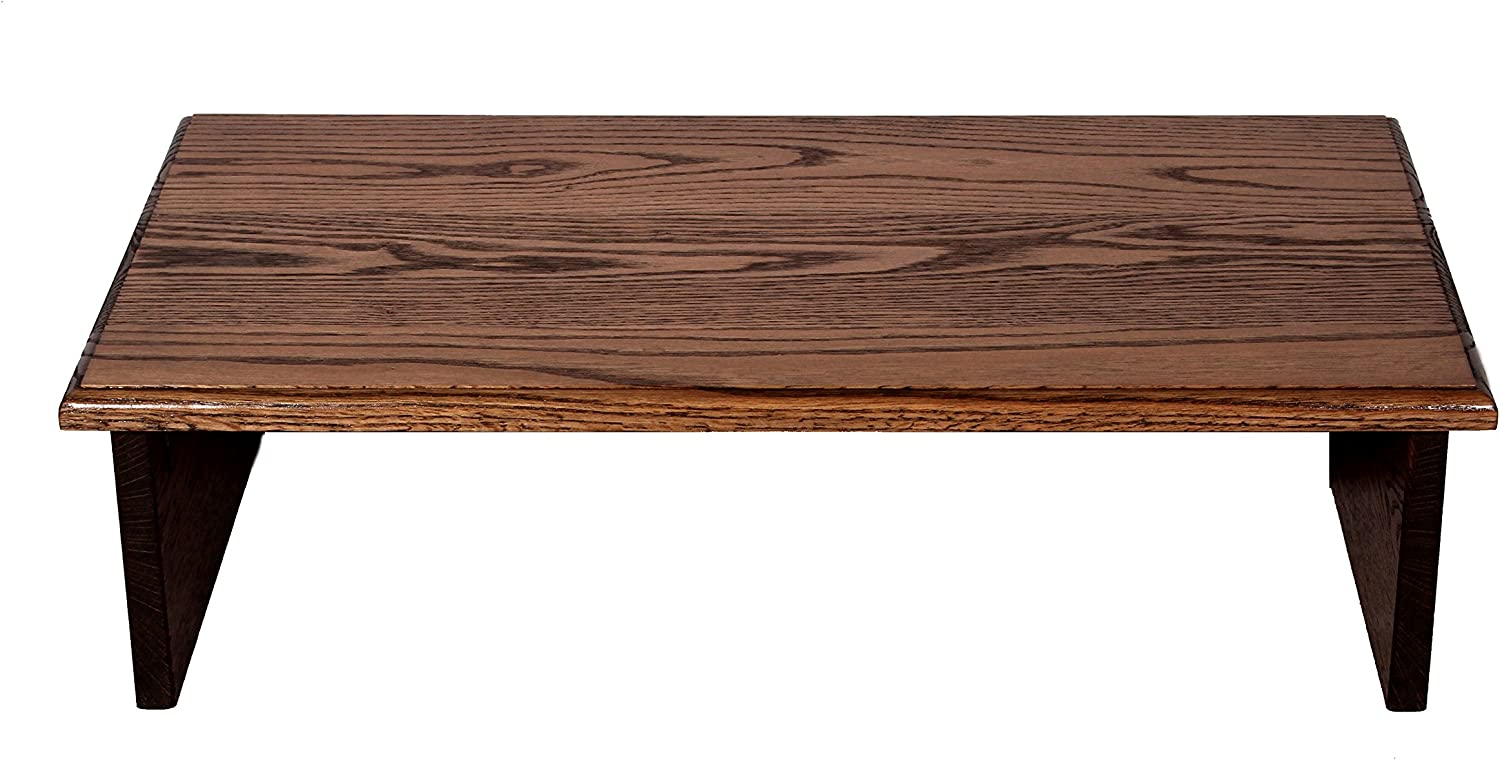 Dark Walnut Large TV Riser 26X14X7 with Solid Back Board by Syracuse TV RISERS