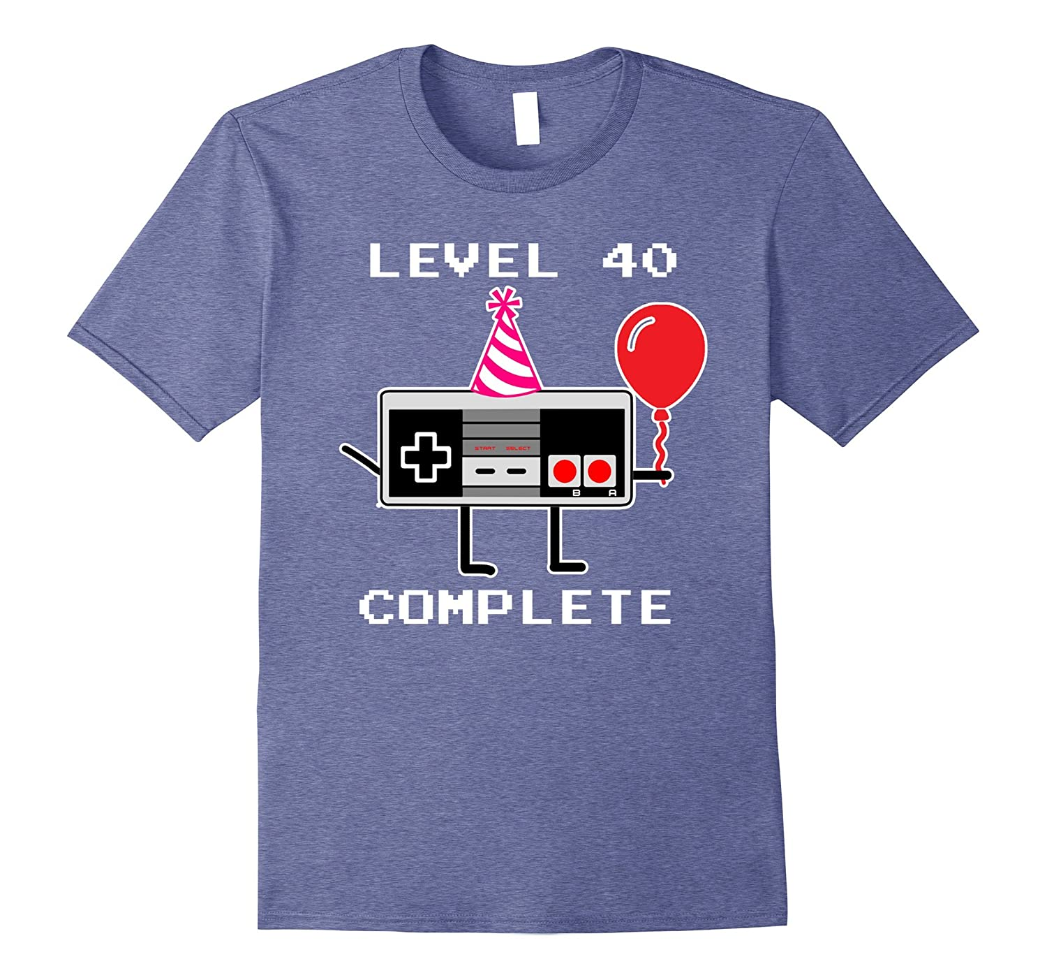 73db5508 Level 40 Complete Video Game Gamer T-Shirt, 40th Birthday-ANZ ...