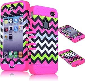 Bastex - Carcasa híbrida resistente para iPhone 4, 4S y 4ª generación, color rosa: Amazon.es: Electrónica