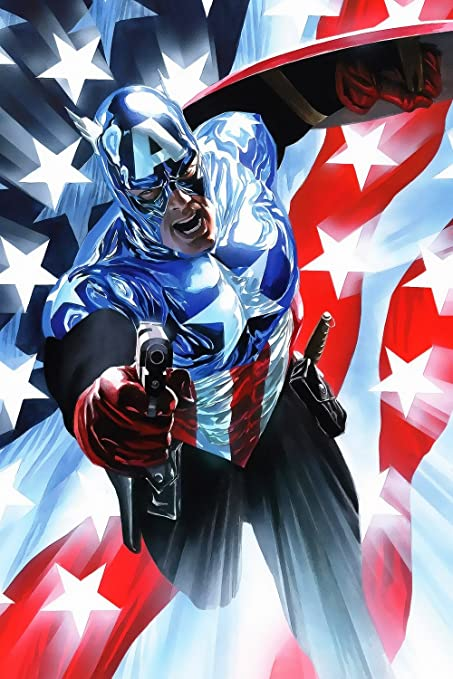 Amazon com: Captain America Us Flag Movie Fan Art Poster