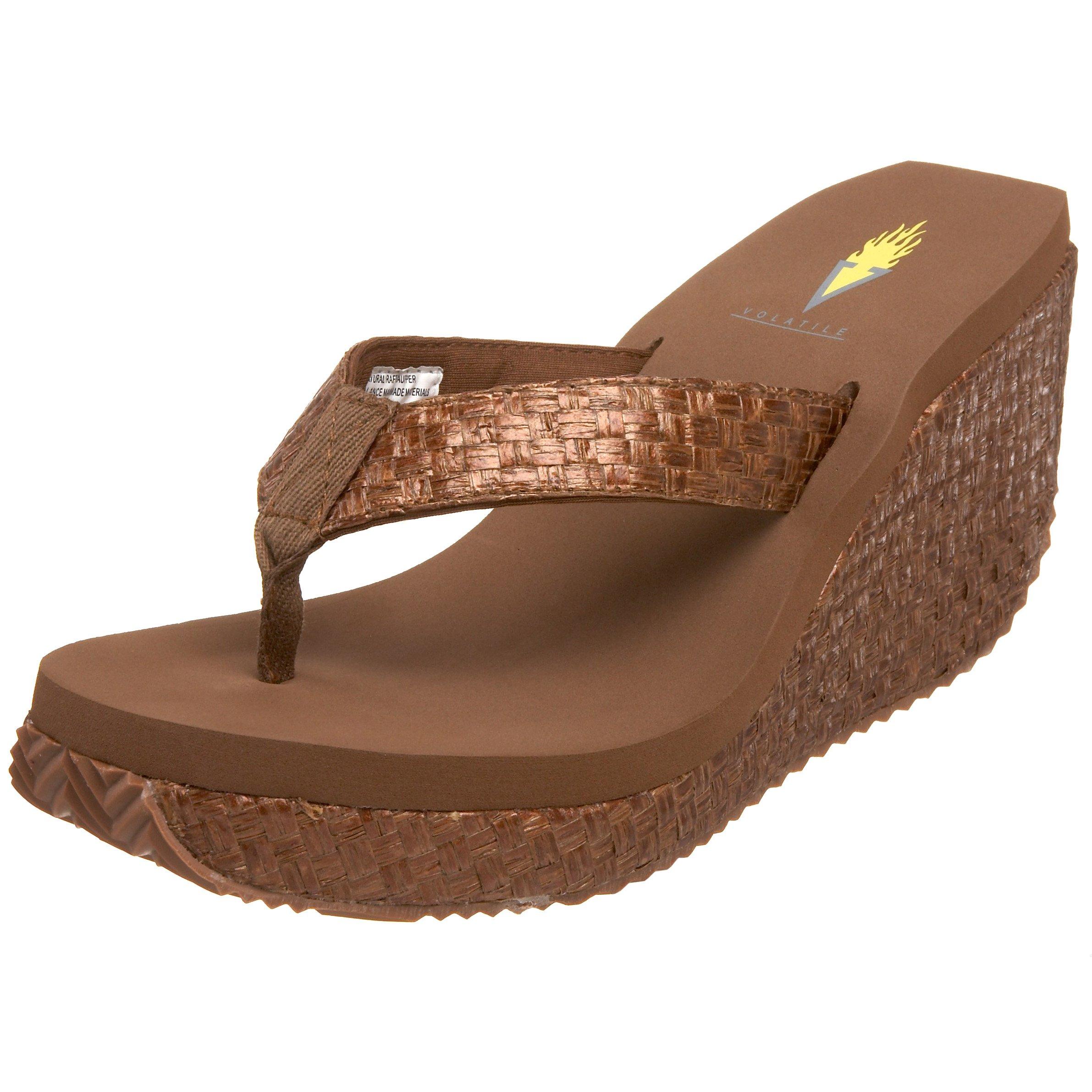 Volatile Women's Cha-Ching Wedge Sandal,Bronze,7 M US