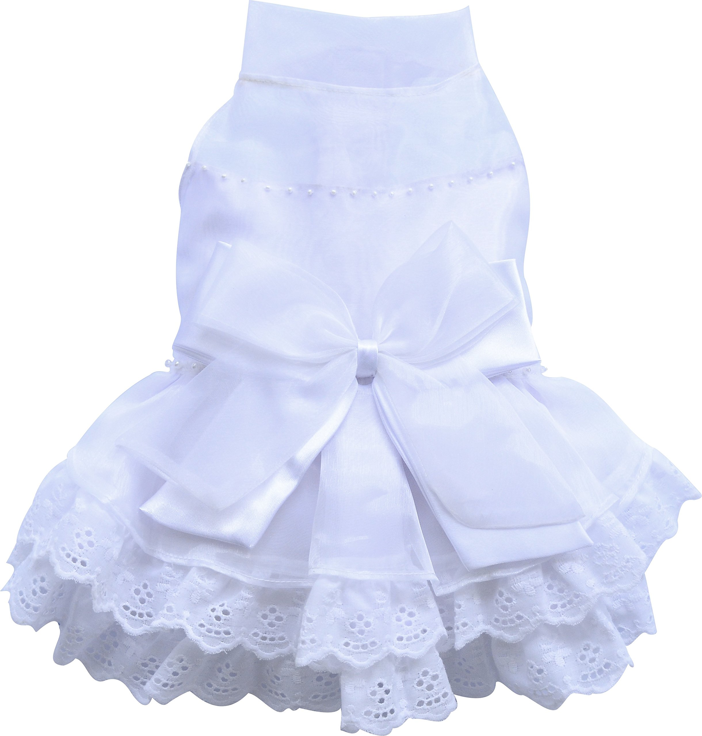 DoggyDolly Authentic Formal Dress, XX-Large, White