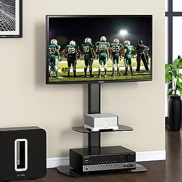 9c56e855301cde FITUEYES Meuble Télé Pied Support Pivotant pour TV Ecran de 32 à 50 Pouces  LED LCD