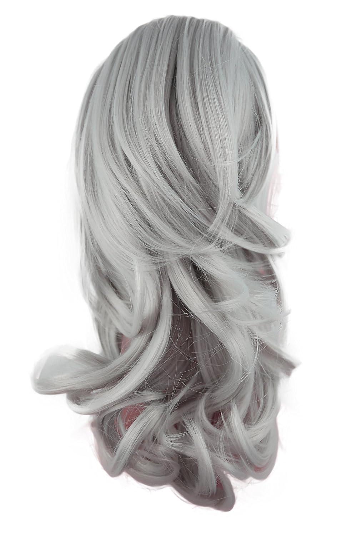 PRETTYSHOP 35cm Clip sur l'extension postiche Pièce de cheveux ondulé Look naturel fibres résistant à la chaleur Blond mix # 26T613C H136