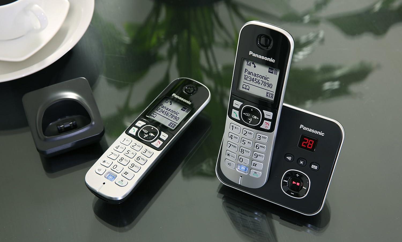Panasonic Kx Tg6821eb Single Dect Cordless Telephone With Answer Machine Tg6811 Wireless Phone Power Backup Electronics