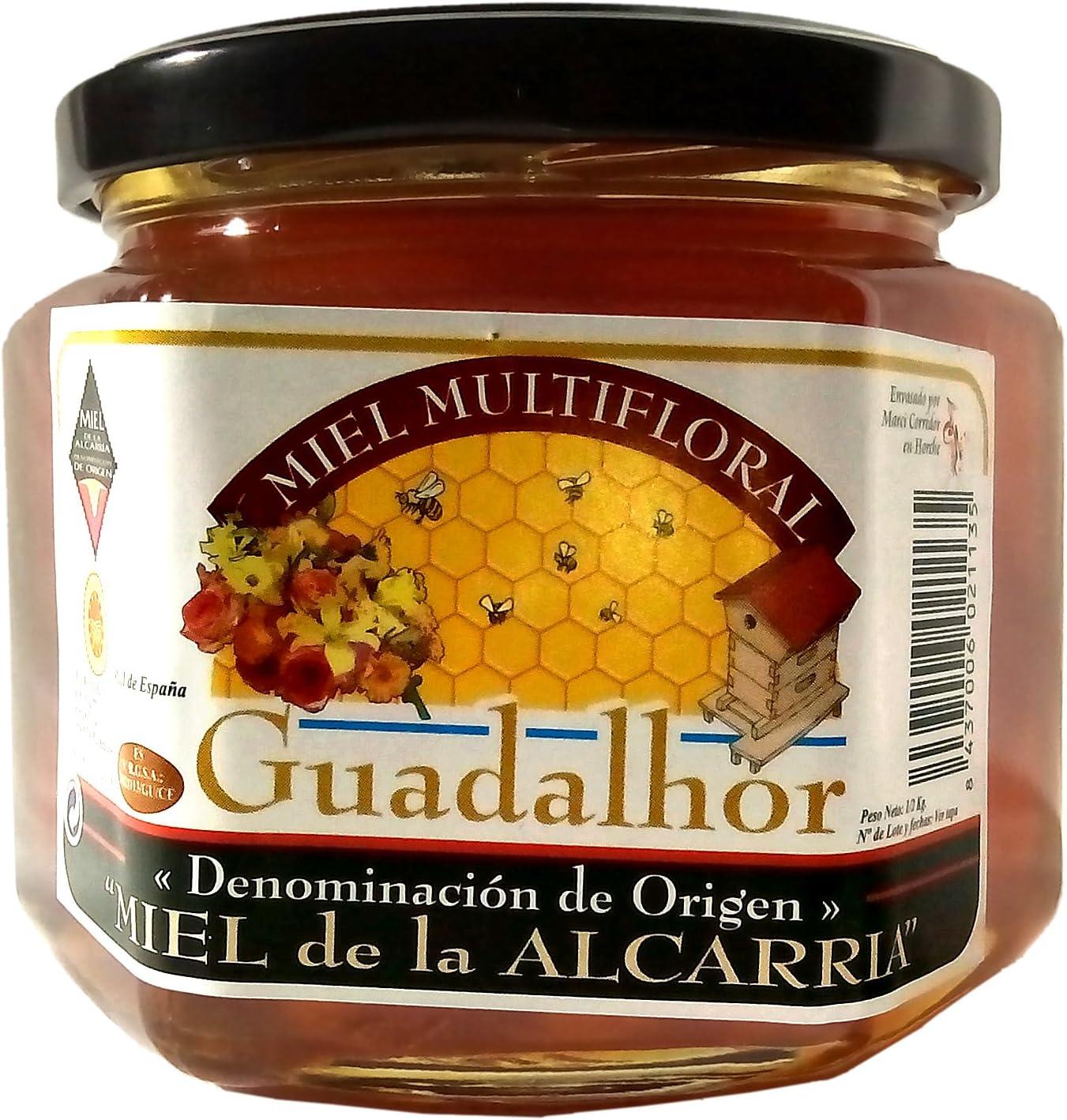 Miel natural Multifloral, Guadalhor 500gr, D.O. La Alcarria. Miel pura de abeja de gran calidad: Amazon.es: Alimentación y bebidas