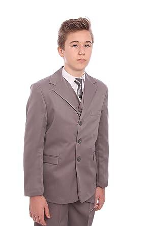 1775fde33 Boys Grey Suit 5 Piece Age 1-15 Years: Amazon.co.uk: Clothing