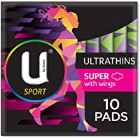 U by Kotex Sport Ultrathin Pads Super with Wings, Pack of 10