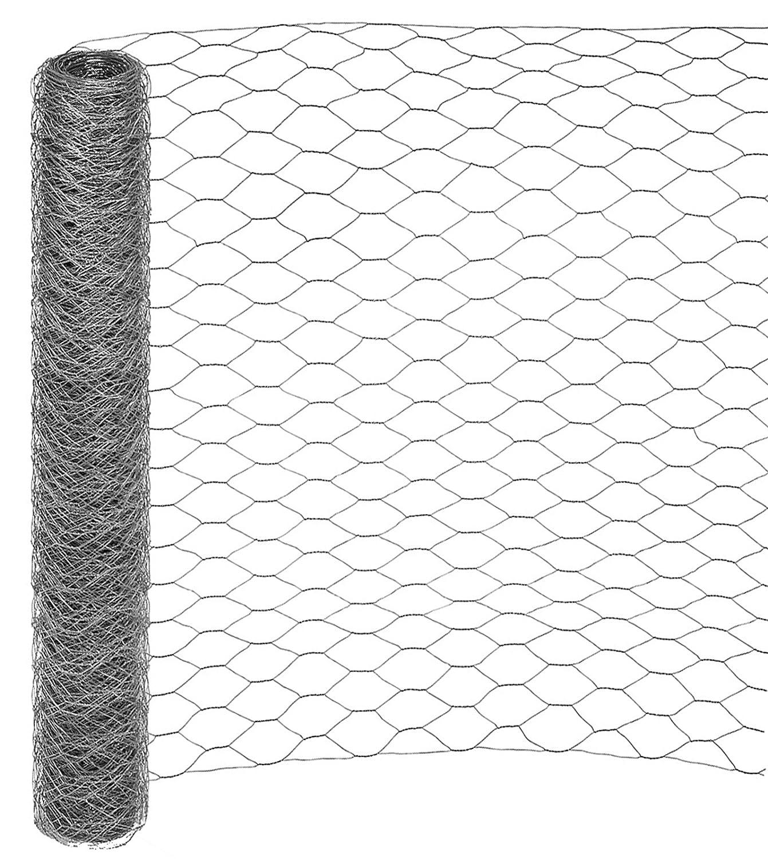 195 cm 25 Meter Sechseckgeflecht Silber Drahtgeflecht Kaninchendraht 50 mm 1 mm
