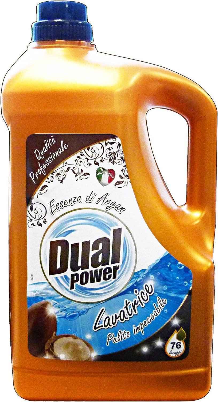 Dual Power detergente Lavadora Líquido 76 Lavados argán 4,9 L ...