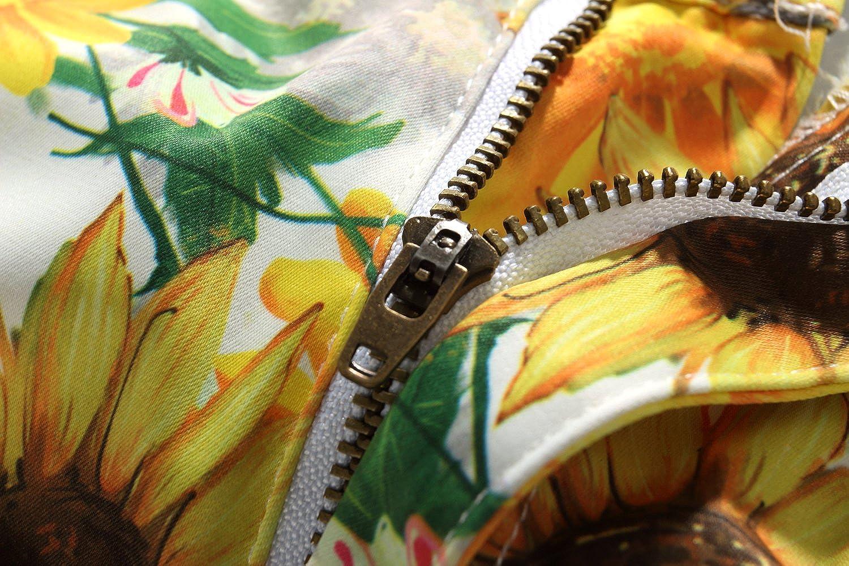 SSLR Mens Sunflowers Print Regular Fit Casual Hawaiian Shorts