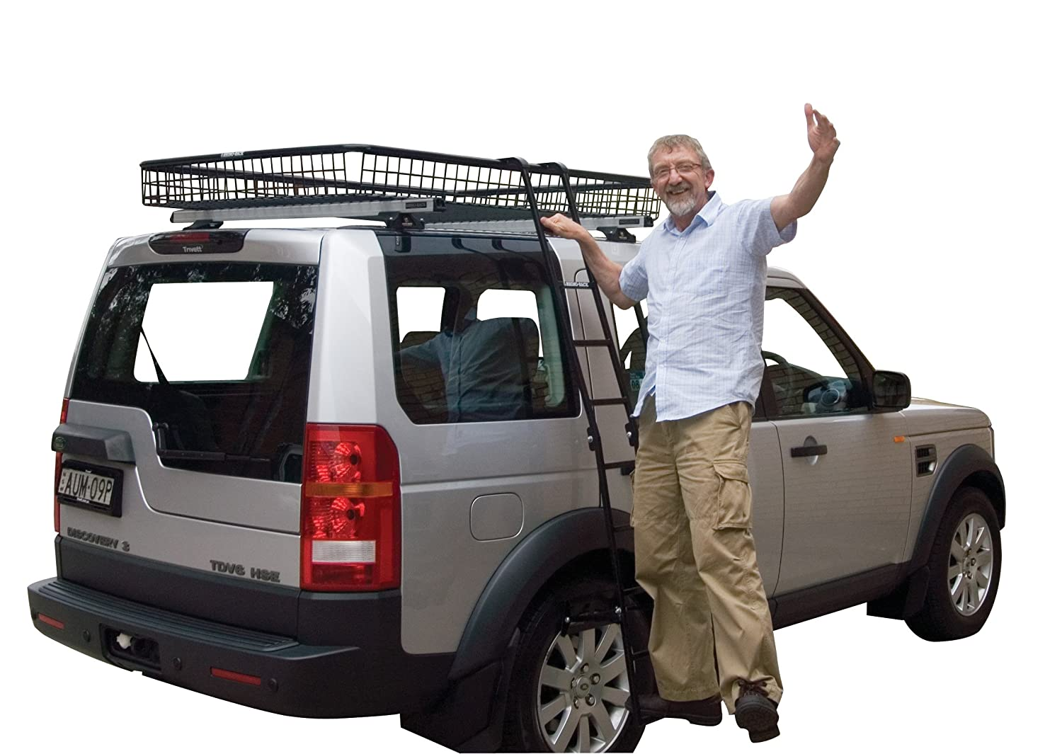Ladder Roof Rack >> Amazon Com Rhino Rack Rhino Folding Ladder Sports Outdoors
