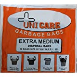 Unicare Biodegradable Garbage Dustbin Bags Extra Medium (Size 20 inch x 26 inch) - 90 pcs (Pack of 5)
