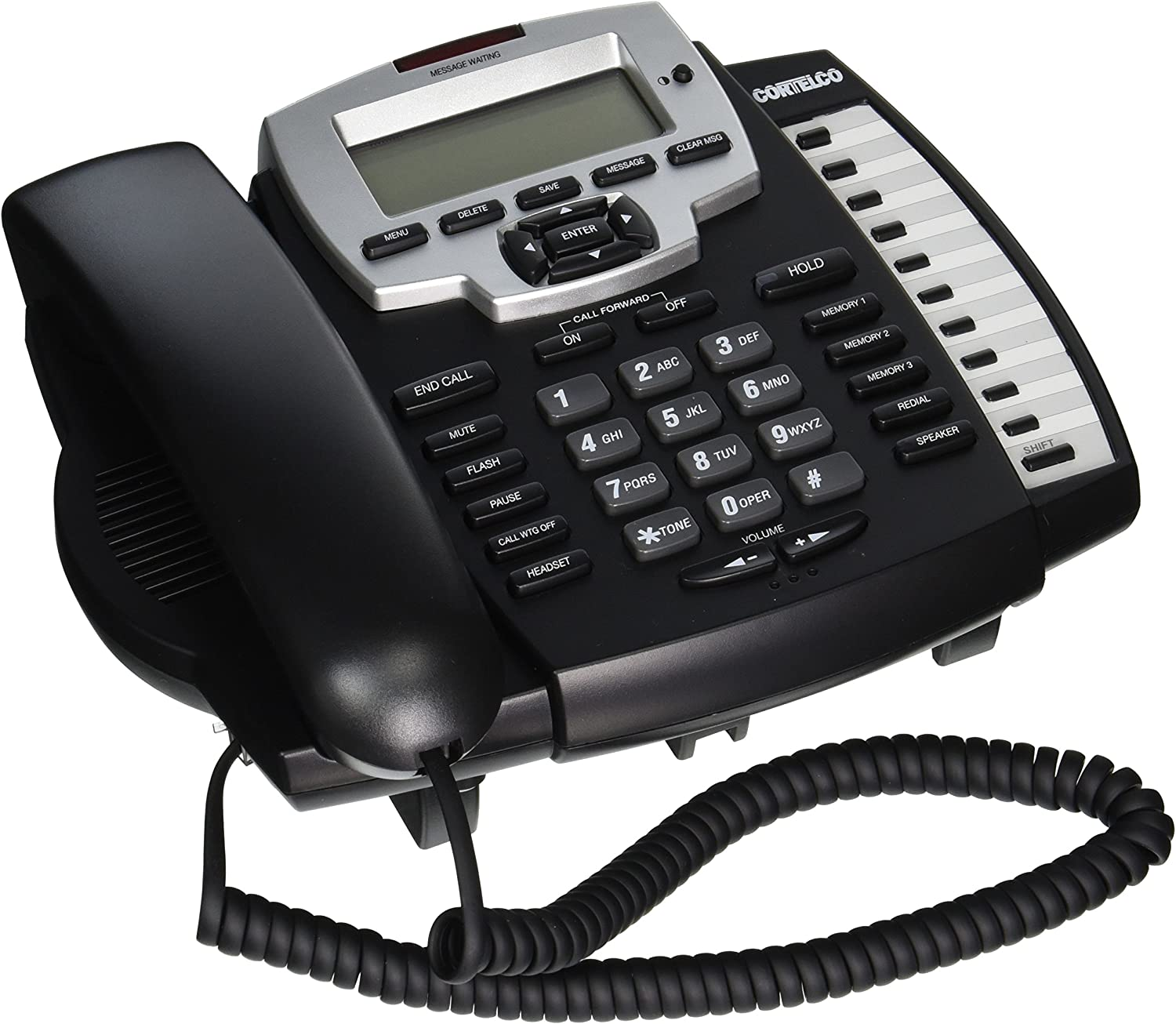 Cortelco Model ITT-9125 Caller ID Corded Single Line Multi-feature Telephone