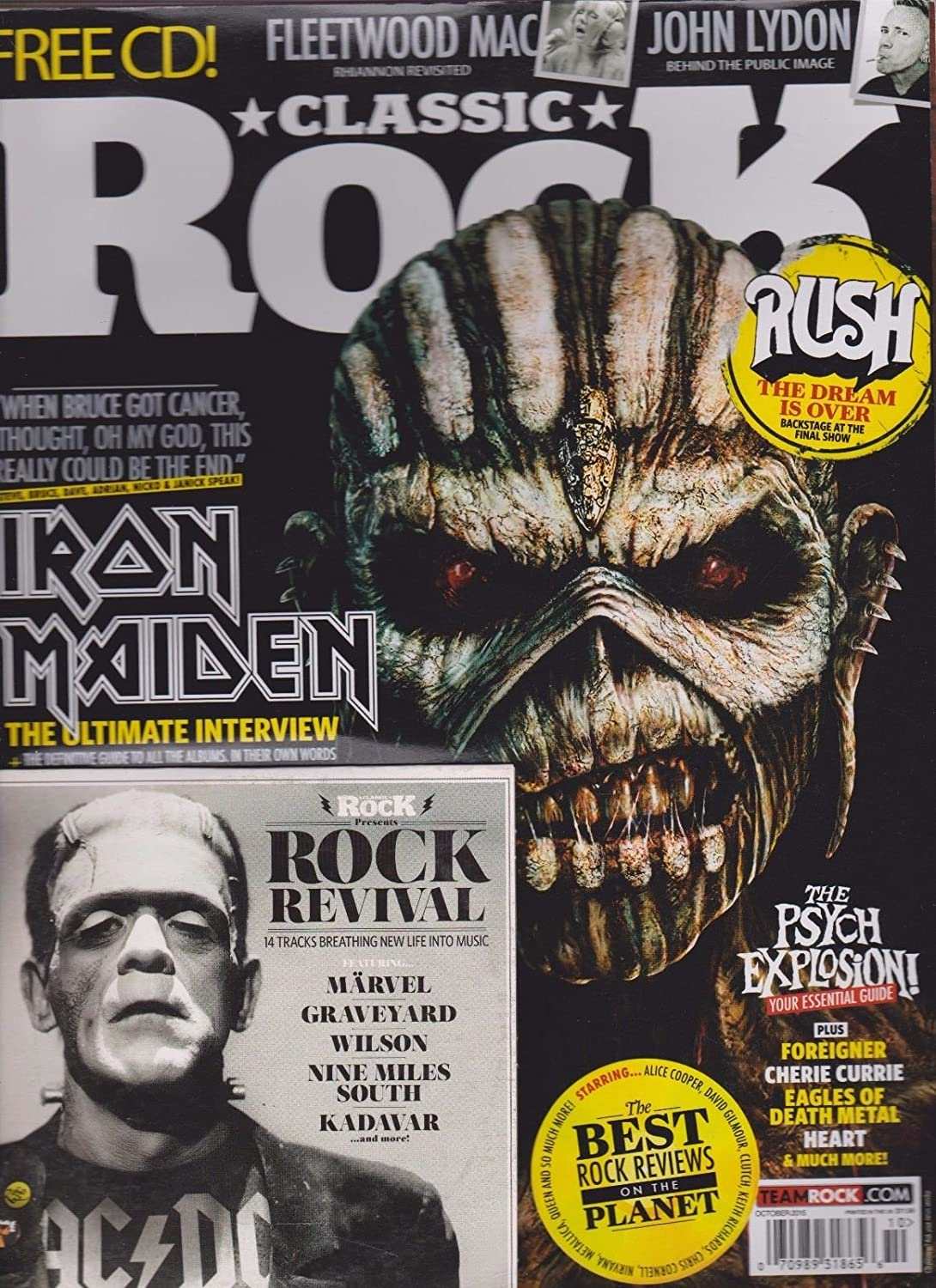 Amazon com: CLASSIC ROCK MAGAZINE + FREE CD OCT 2015, IRON MAIDEN