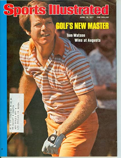 Amazon Com 1977 Sports Illustrated April 18 Tom Watson Wins Masters Sports Collectibles