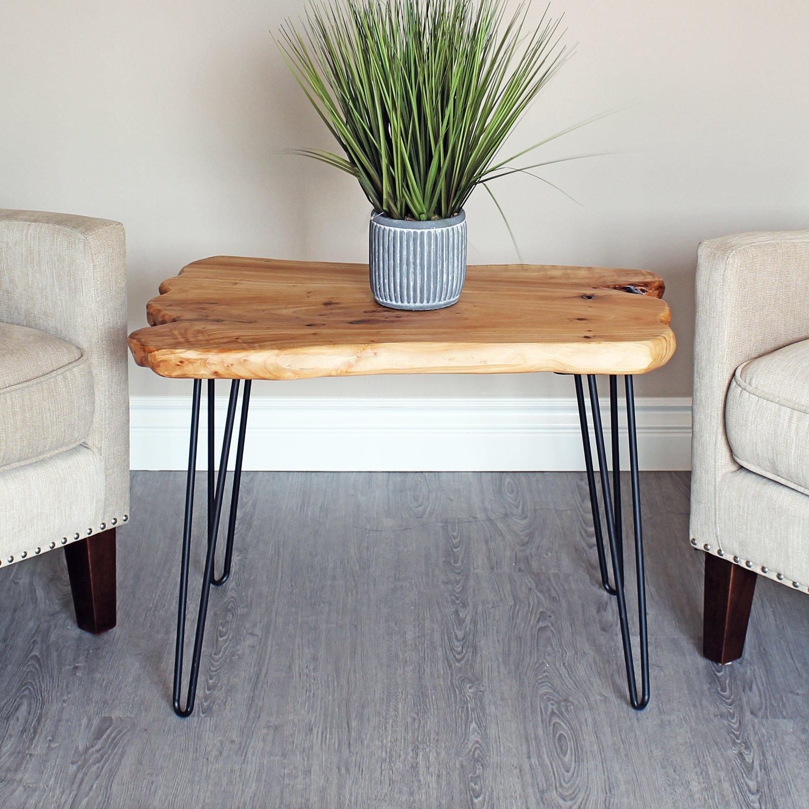 WELLAND Cedar Live Edge Hairpin Coffee Table 28'' L x 20'' W x 20.5'' T by WELLAND (Image #4)
