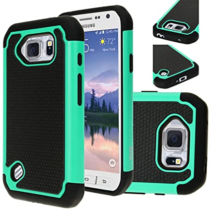 size 40 ca1b5 ef78b E LV Case for Samsung Galaxy S6 Active case, Protection from Drops and  impacts for Samsung Galaxy S6 Active - Teal