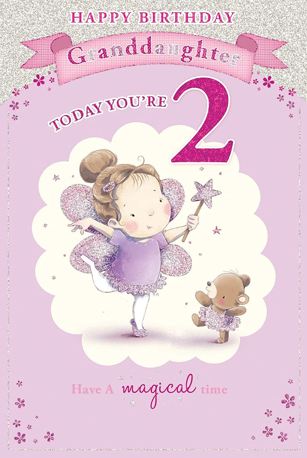 Granddaughters 2nd Birthday Card 2 Today Little Girl Fairy – 2nd Birthday Cards