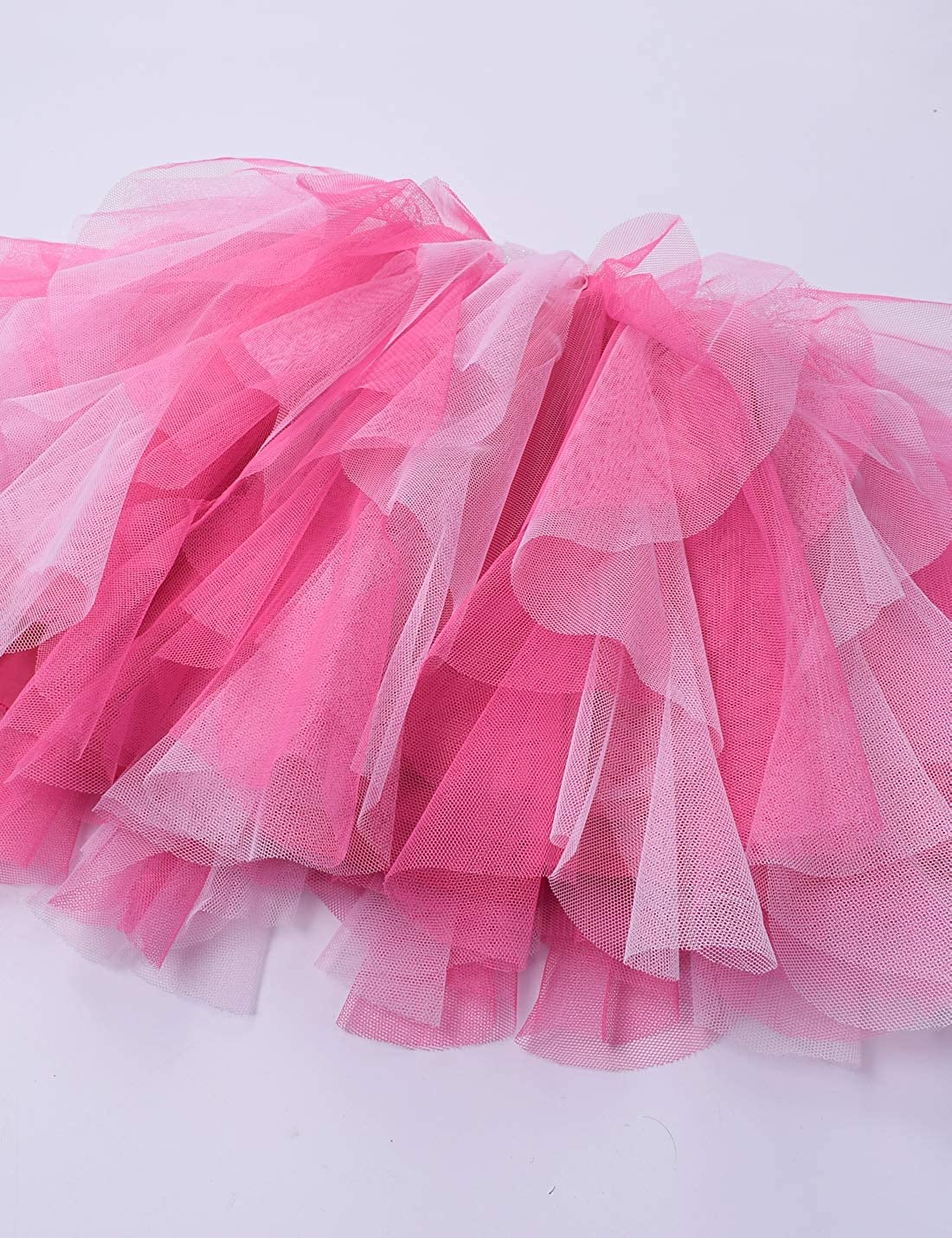 Kid Girls Rainbow Tutu Skirt Tulle Birthday Party Princess Skirt
