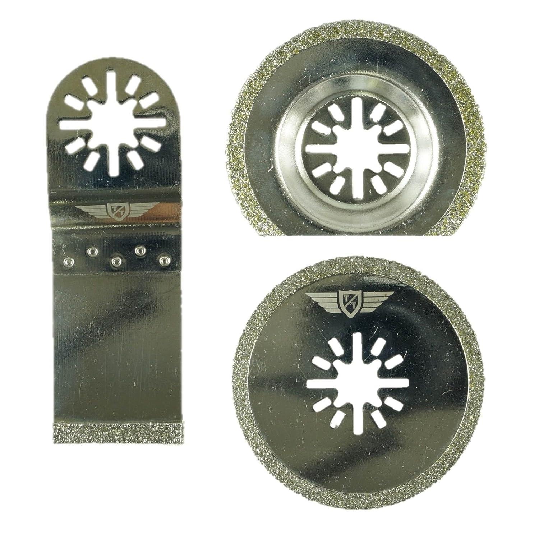 3 hojas de diamante para lechada UNK3DA de TopsTools, para multiherramientas