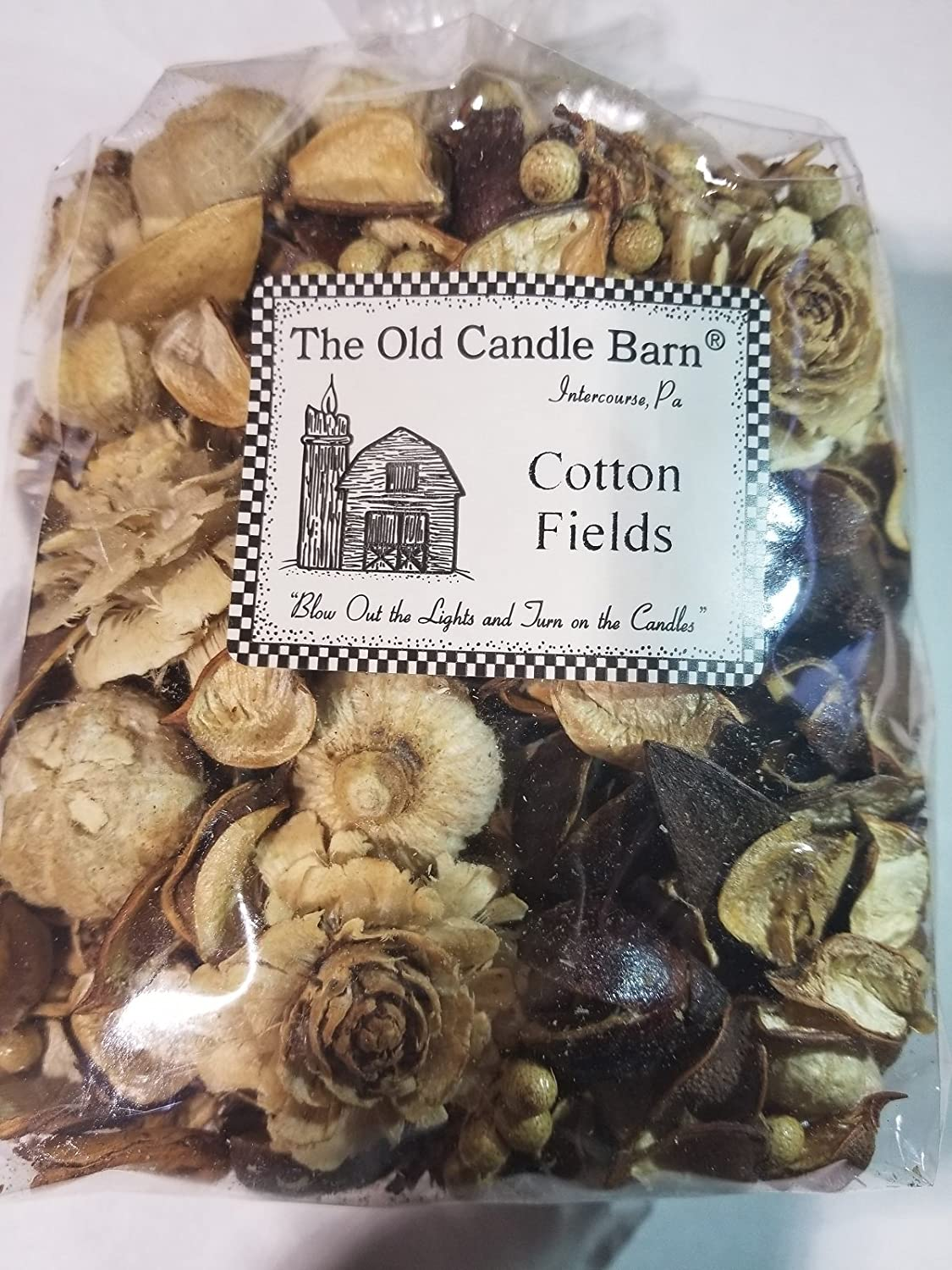 Old Candle Barn Cotton Fields Potpourri Large Bag - Perfect Country House Decoration or Bowl Filler - Beautiful Clean Crisp Scent
