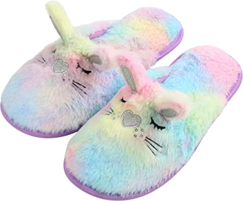 Rabbit Ears Slippers Bunny Home Shoe Boots Soft Warm Fur Flees New Hand Made