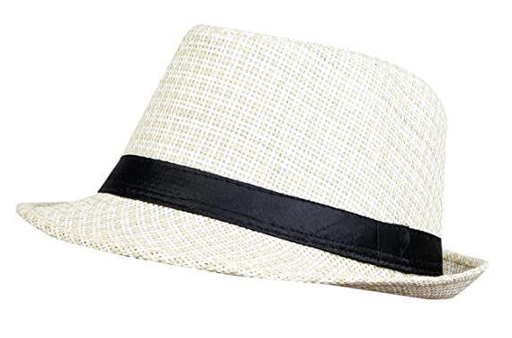 Zacharias Unisex Cotton with Jute Printed Fedora Hat(Multicolour ... 0a23fc196a83