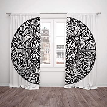 Thermal Insulated Blackout Window Curtain Gothic Decor Renaissance