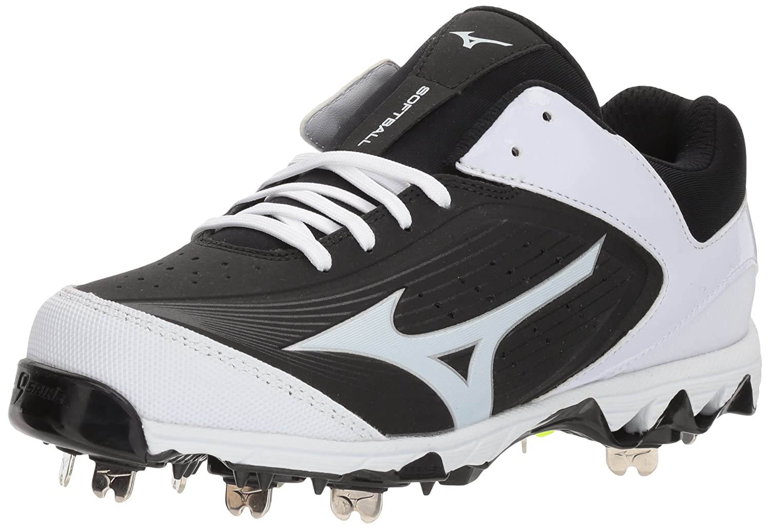 Mizuno Women's Swift 5 Fastpitch Cleat Softball Shoe B072JLTKSP 10.5 B(M) US|Black/White