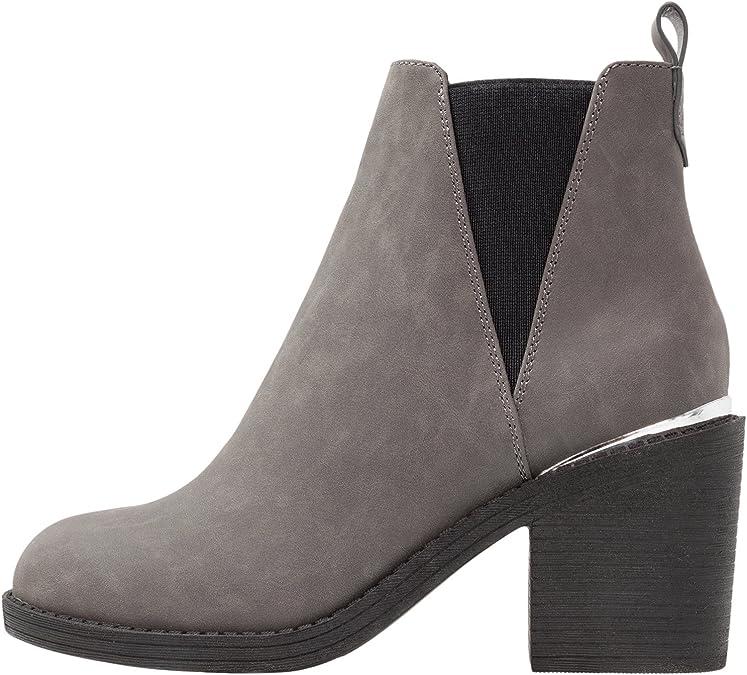 Neu Mode Damen Ankle Boots mit Blockabsatz Stiefeletten Größe 37 38 39 40 41 DE