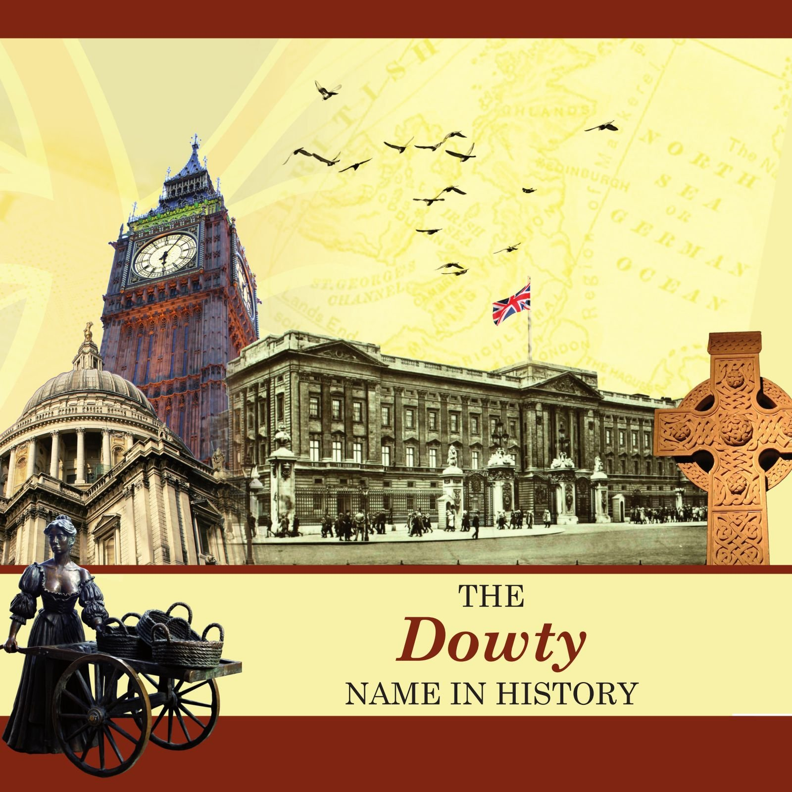 DOWTY Street Sign Personalized Last Name Sign
