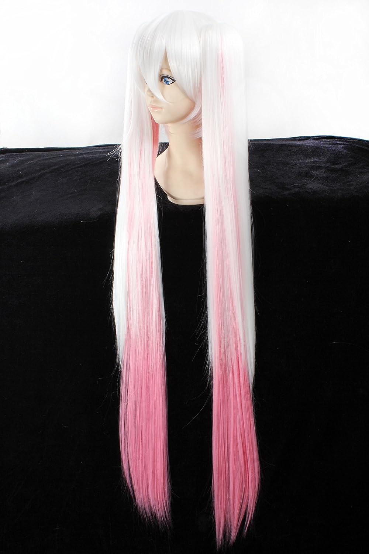 Amazon.com: GOOACTION Cosplay Wig White Pink Gradient Wig ...