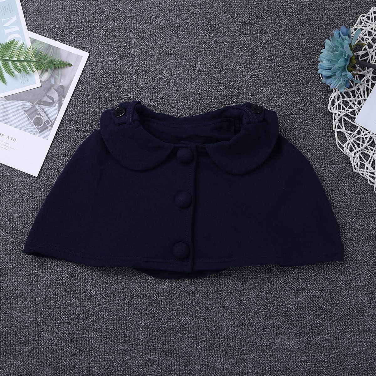 iiniim Vestido Bolero Conjunto de Trajes de Ni/ñas Algod/ón Vestido Princesa Vintage Chaleco Shrug Double-breasted Outwear Dress Ropa Caliente para Ni/ñas 2 A/ños a 6 A/ños