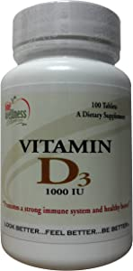 One Wellness Place: Vitamin D3 - 1000 IU - Immune Support (100 Tablets)