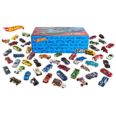 Hot Wheels Basic Car 50-Pack Styles May Vary: Toys & Games